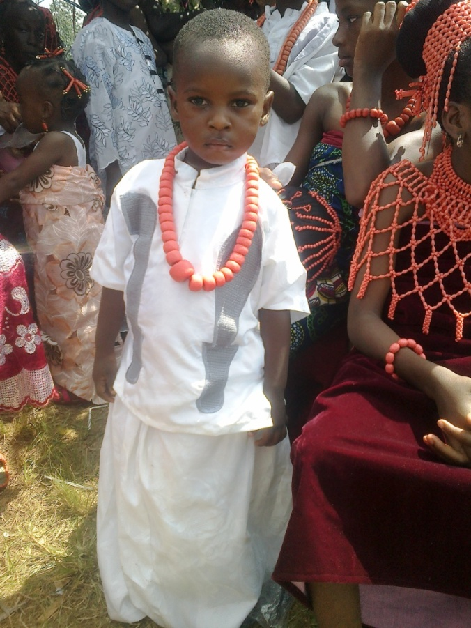 Primary school student expressing their cultural inheritance.