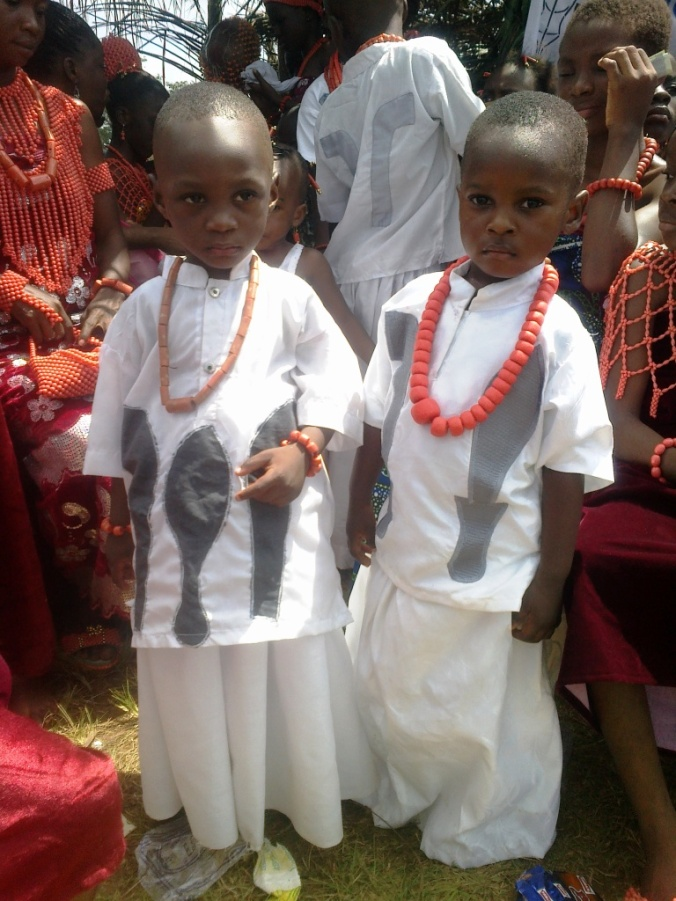 Primary school students exhibiting their cultural inheritance.